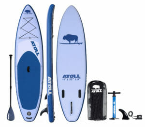 Atoll 11' inflatable SUP - best inflatable SUP boards