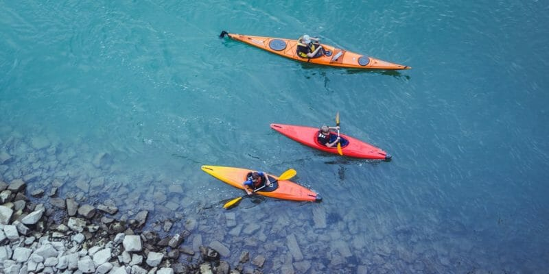 three kayakers from above best recreational kayaks under $500