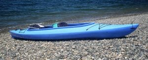 sit-in kayak blue beach