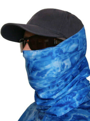 fishing face mask for sun protection aqua design