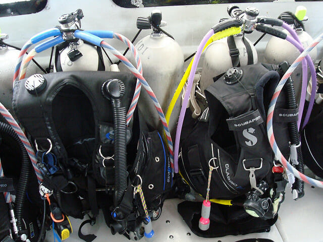dive bags bcd regulators and breathing gas tanks