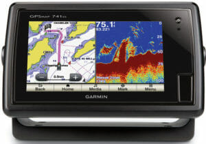 garmin fish finder split screen gps