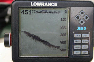 lowrance fish finder depth sounder black and white screen