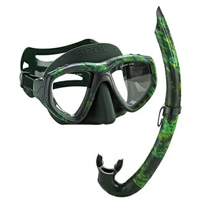 seac one camo mask and snorkel freediving spearfishing