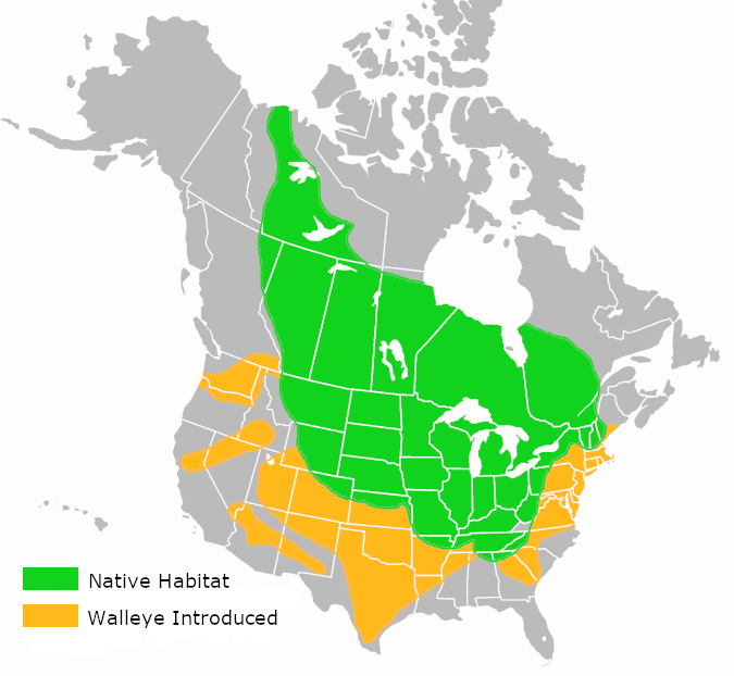 walleye habitat map