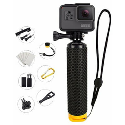 MiPremium floating gopro handle grip with accessories