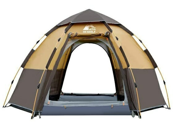 hewolf camping tent 2-4 person instant tent