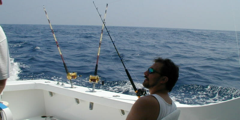 tuna rods on boat