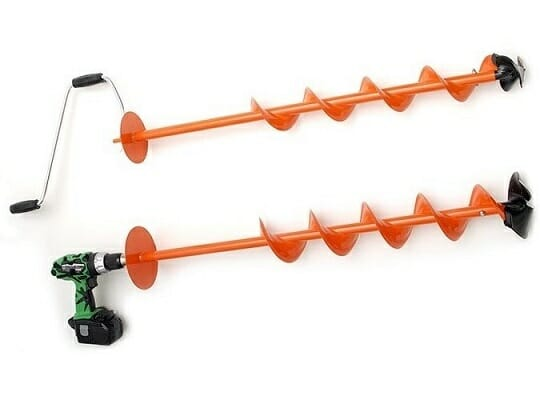 Nils Master Hand Ice Auger with drill