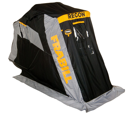 frabill recon flip-over ice fishing shelter