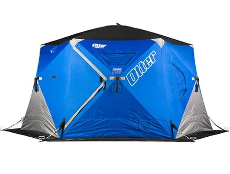 otter xth pro resort hub ice fishing shelter