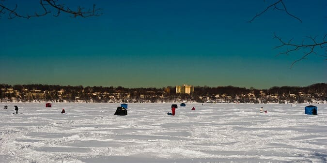 lake simcoe ontario ice fishing