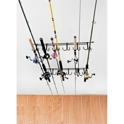 rackem overhead fishing rod rack