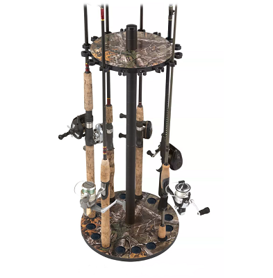 rush creek round fishing rod rack camo
