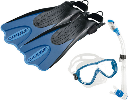 cressi palau short snorkel mask and fins set for traveling