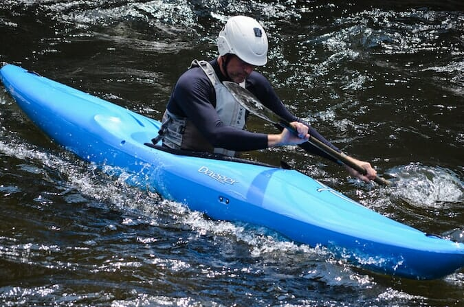 whitewater dagger kayak in the water