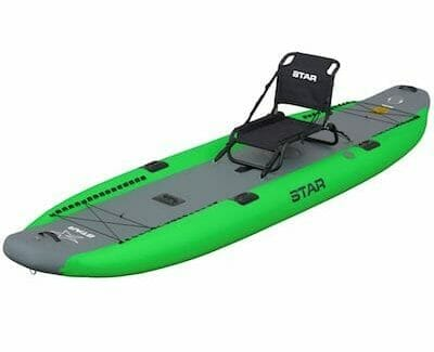 NRS star rival fishing kayak lime green