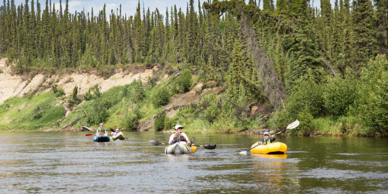 inflatable kayaks in river paddling