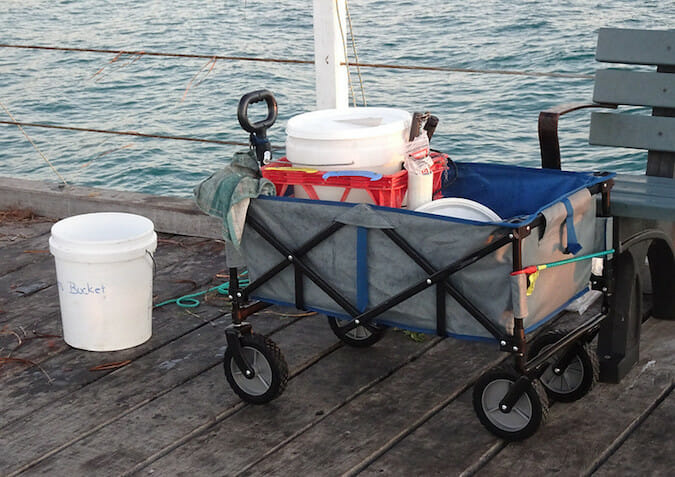 fishing cart on the pier