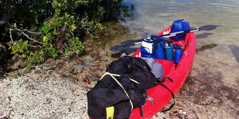 kayak with float bag
