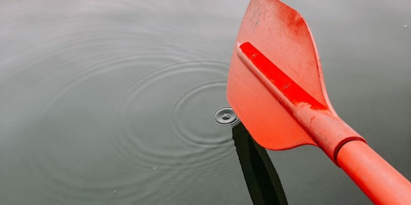 orange emergency paddles