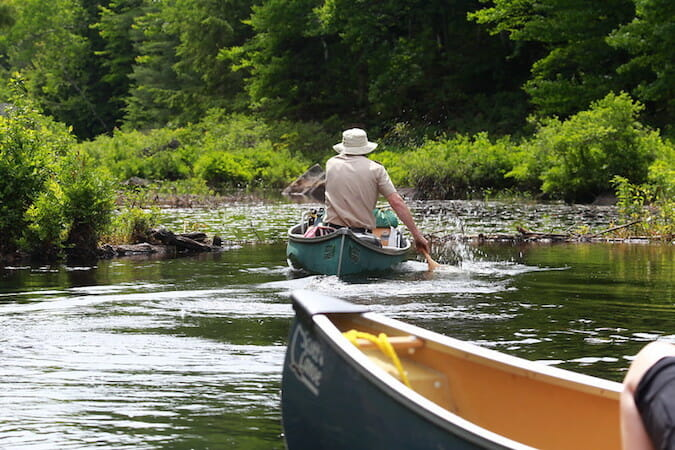 canoeing in river