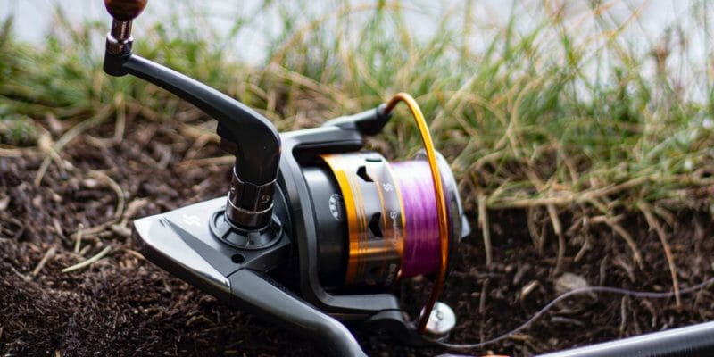 spinning reel up close